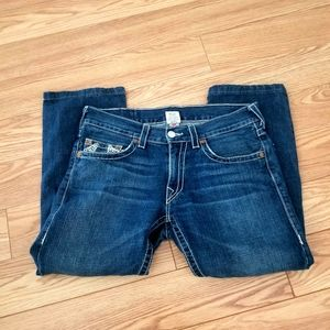True Religion M Relaxed Fit Straight Leg Jeans 33